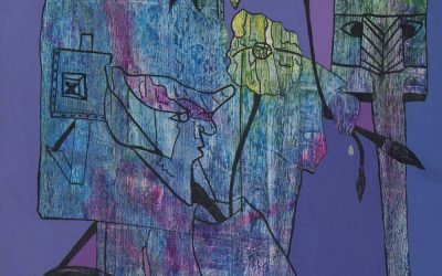Purple Easel